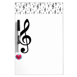 Musical Lifetimes Treble Clef Dry Erase Board