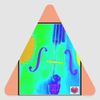 Musical Lifetimes Triangle Green Cello Sticker