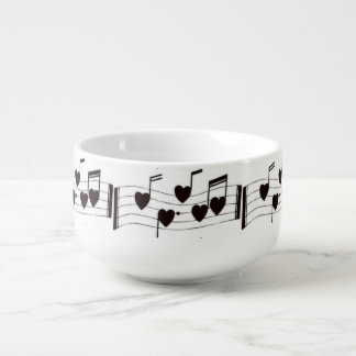 ****MUSICAL LOVE NOTES**** SOUP AND MORE BOWL