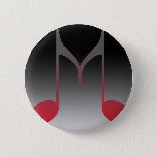 "Musical ""M"" Letter 6 Cm Round Badge"