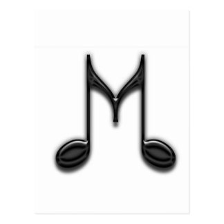 "Musical ""M"" Letter Postcard"