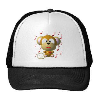 Musical monkey trucker hat