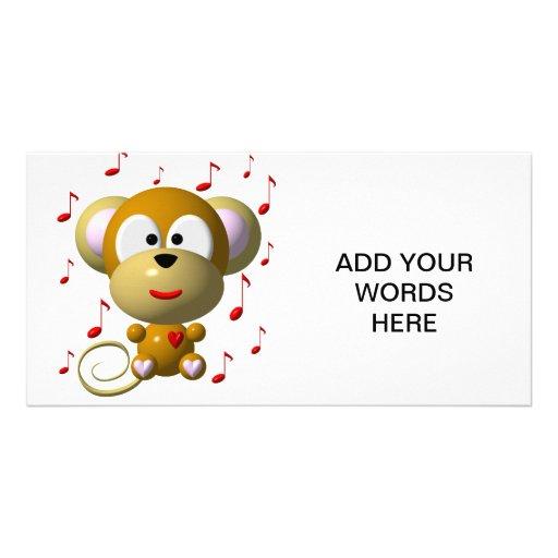 Musical monkey photo card