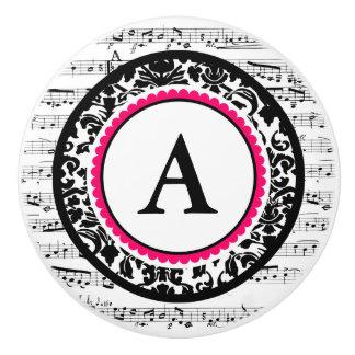 Musical Monogram Ceramic Knob