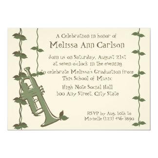 Musical Nature/ Trumpet 13 Cm X 18 Cm Invitation Card