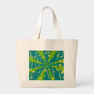 Musical Noise Background Large Tote Bag