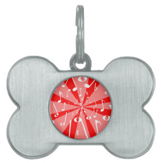 Musical Noise Background Pet Name Tags