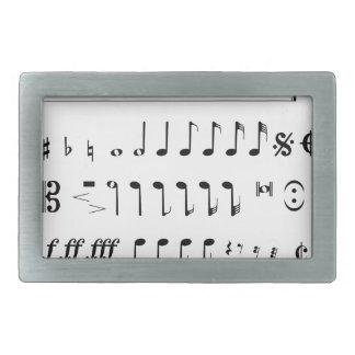 Musical Notation Belt Buckles