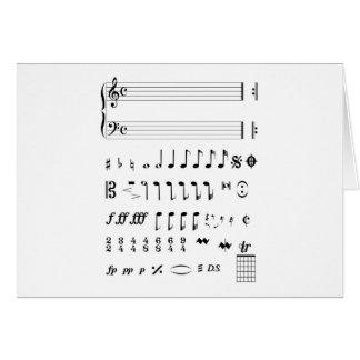 Musical Notation Card
