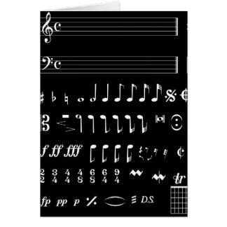Musical Notation Negative Card