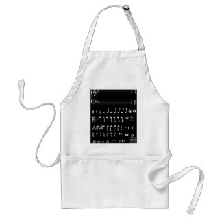 Musical Notation Negative Standard Apron