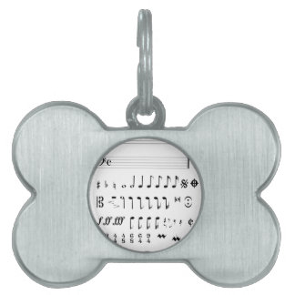 Musical Notation Pet ID Tag