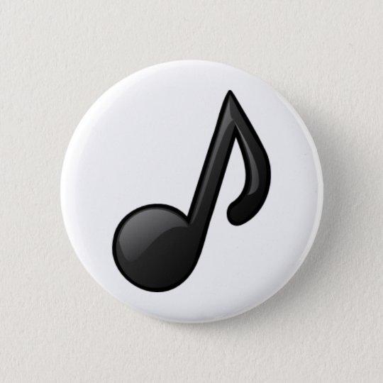 Musical Note 6 Cm Round Badge