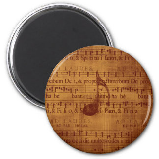 Musical Note 6 Cm Round Magnet