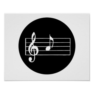 Musical Note A Poster