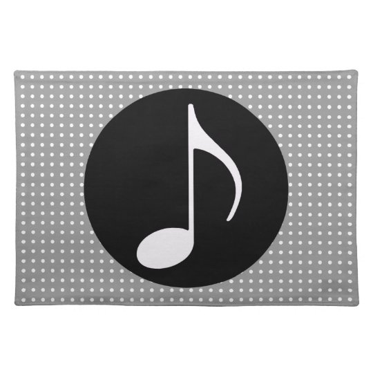 musical note ~ black place mat