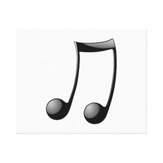 Musical Note Gallery Wrapped Canvas