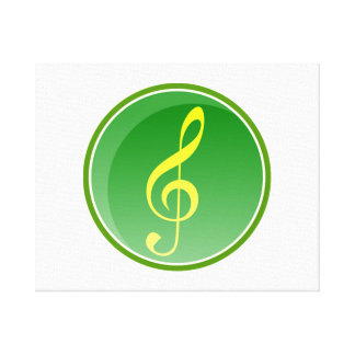 Musical Note Stretched Canvas Prints