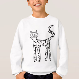 Musical note cat sweatshirt