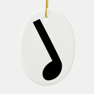 Musical Note Ceramic Oval Decoration