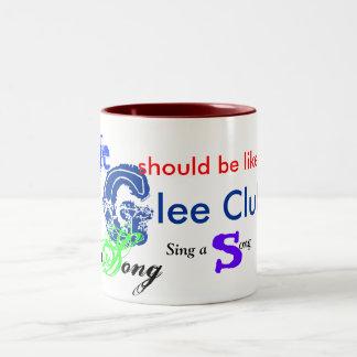 musical_note_, Glee,  life , sing, song Two-Tone Coffee Mug