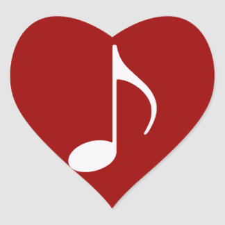 musical note graphic symbol heart stickers