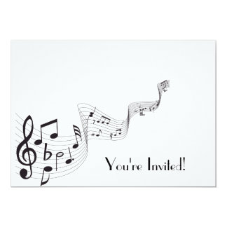 Musical Note Invitation Card