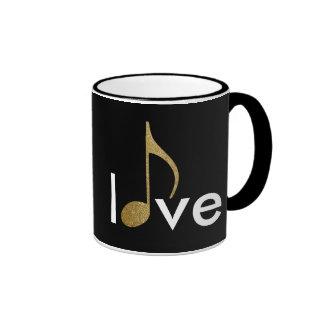 musical-note love-word ringer mug