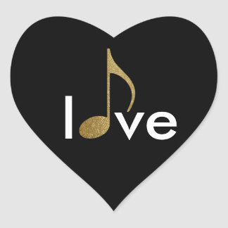 musical-note love-word stickers