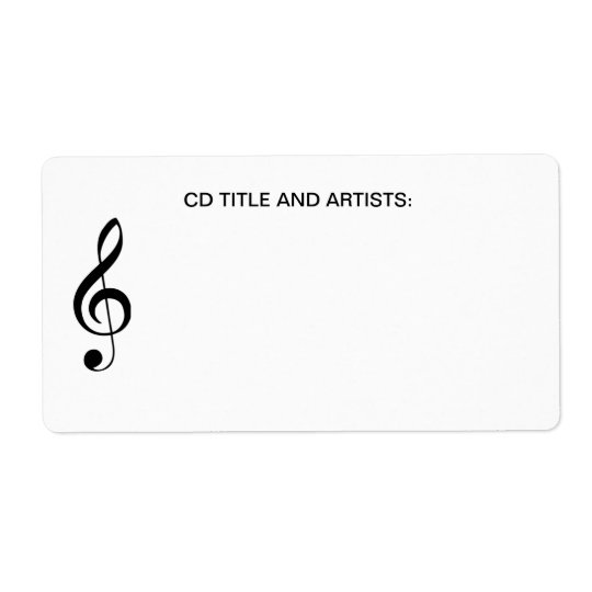 Musical Note Music Title Band Artist CD Case
