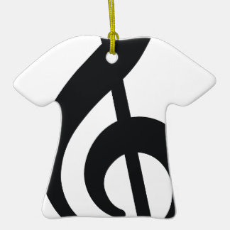 musical note note treble key christmas ornament