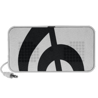 musical note note treble key iPod speakers