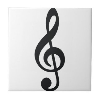 musical note note treble key tile
