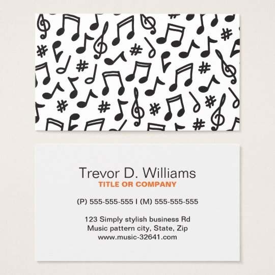Musical note pattern black and white music business