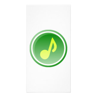 Musical Note Customized Photo Card