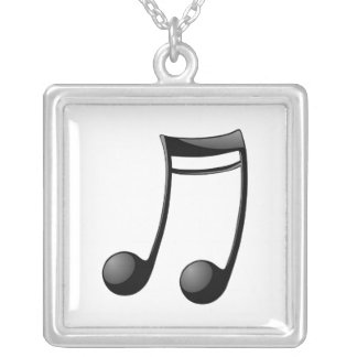Musical Note Silver Plated Necklace