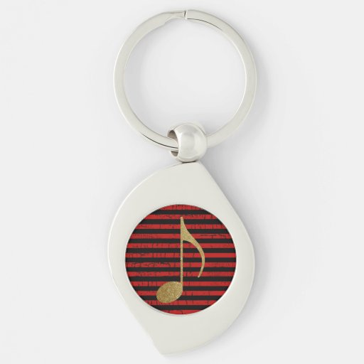 musical note/stripy keychains