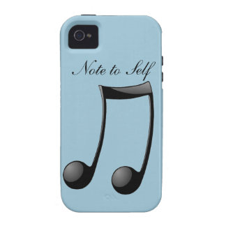 Musical - Note to Self iPhone 4 Cover