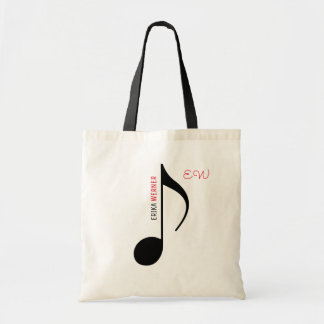 musical note tote with your own name on it