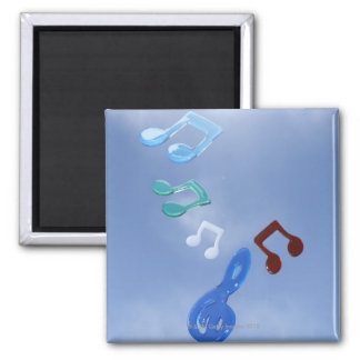 Musical Notes 3 Square Magnet