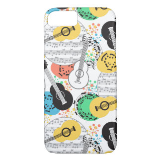 Musical Notes and Guitars Classic Apple iPhone 7 iPhone 8/7 Case