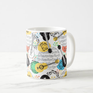 Musical Notes and Guitars Classic Mug