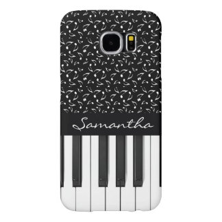 Musical Notes and Keyboard Design Galaxy S6 Case Samsung Galaxy S6 Cases