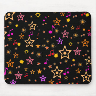 Musical Notes and Stars Custom Mousepad