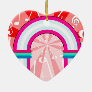 Musical Notes Archway Ceramic Heart Decoration