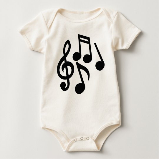Musical Notes Baby Bodysuit