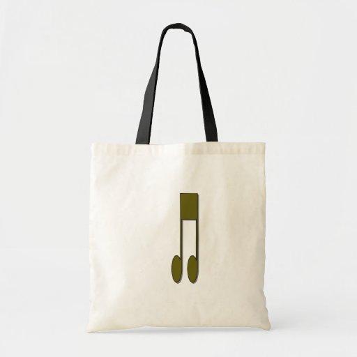 Musical Notes Canvas Bag