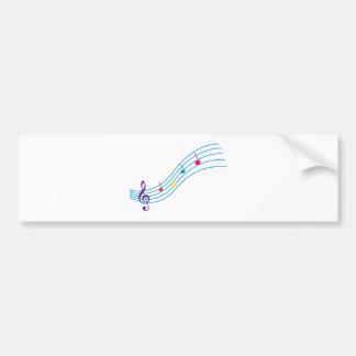 Musical notes bumper sticker