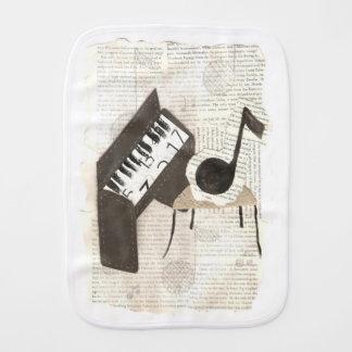Musical Notes Burp Cloth