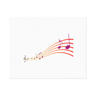 Musical Notes Canvas Print